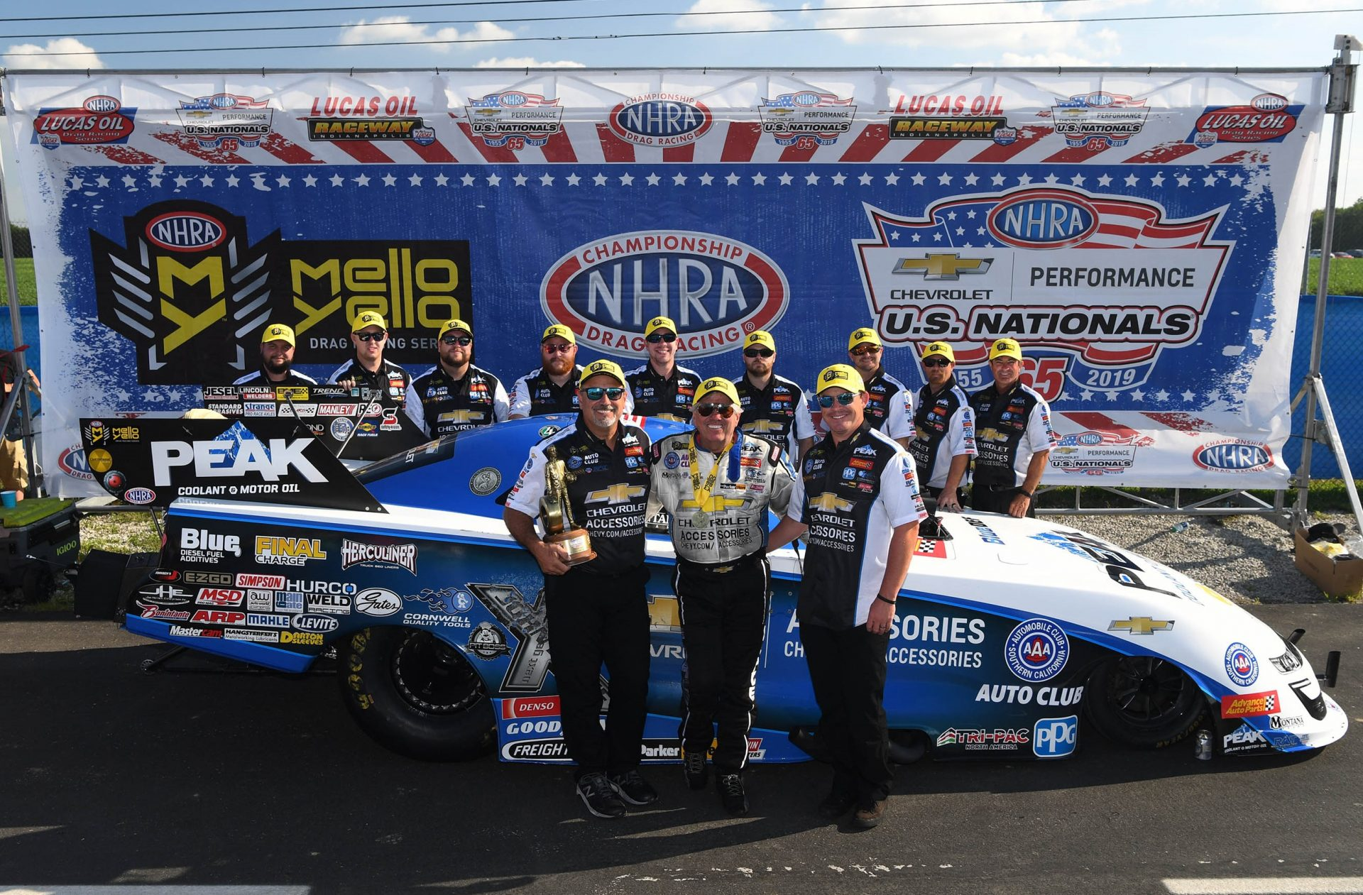 JOHN FORCE AND PEAK CHEVROLET PERFORMANCE ACCESSORIES TEAM